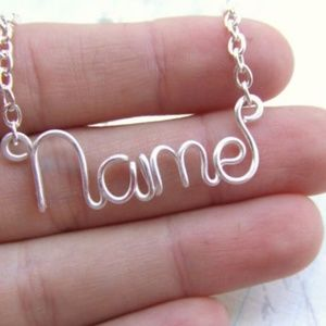 Sterling Silver Custom Name Necklace